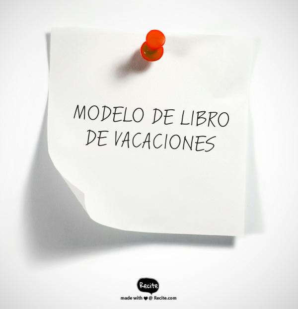 MODELO DE LIBRO DE VACACIONES