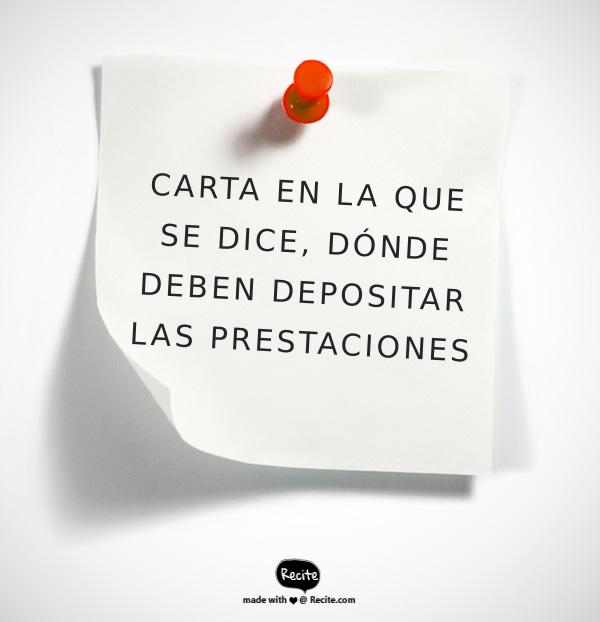 DEPÓSITO DE PRESTACIONES SOCIALES