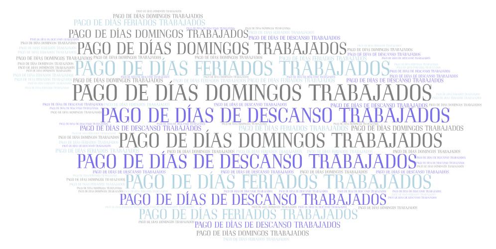 CALCULO DEL PAGO DE DÍAS DOMINGOS TRABAJADOS