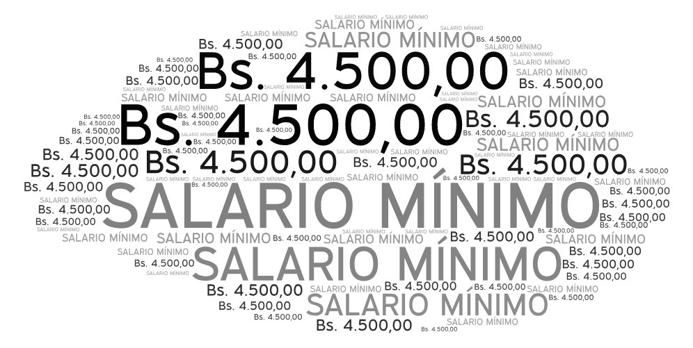 SALARIO MÍNIMO BS. 4500,00