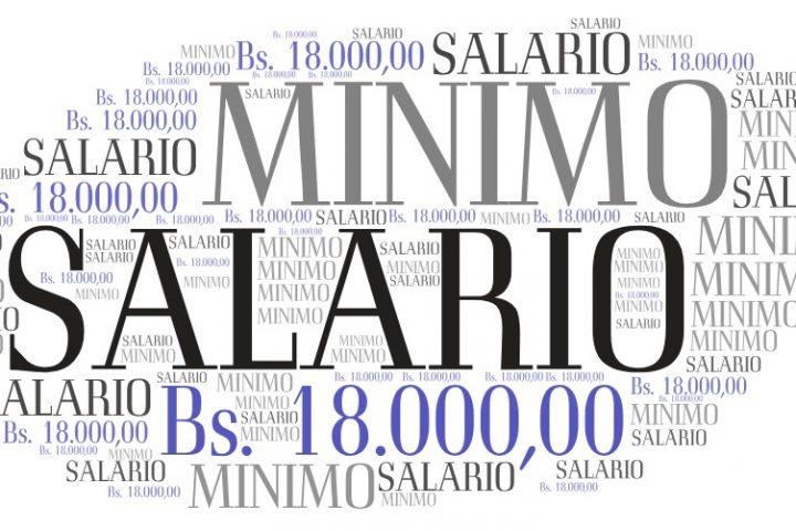 Salario mínimo Bs. 18.000,00